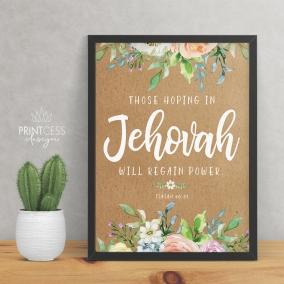 Isaiah 40:31 8×10 print – digital download – English & Spanish