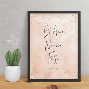 1 Corinthians 13:8 8×10 print – digital download – English & Spanish