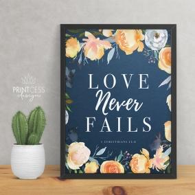1 Corinthians 13:8 8×10 print – digital download