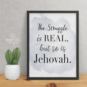 Struggle is Real 8×10 print – digital download