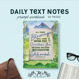 Daily Text Notebook | Masculine | Best Life Ever – Pioneer Gifts – JW Gifts – Return Visits Notebook – Daily Text JW