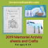 2019 Memorial Activity Sheets and Crafts