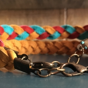 Deerskin Leather Bracelet, EO Diffuser