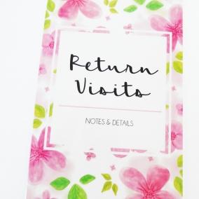 Floral Return Visit Book