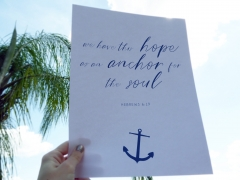 As An Anchor Instant Download Print
