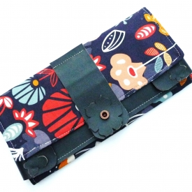 Tract Invitation & Contact Cards Holder Fabric Vegan Leather And Kraft Tex Magnetic Snaps