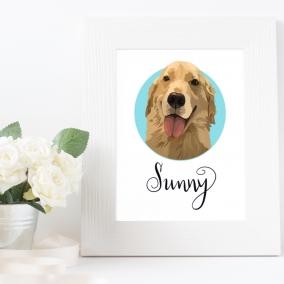 Custom Pet Portrait – Graphic Art Style