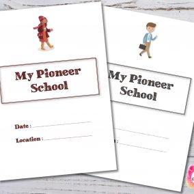 Pioneer School Notebook - Digital print