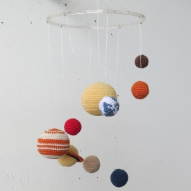 Baby mobile, the solar system.