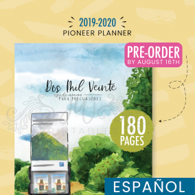 2019-2020 Agenda Máxima para Precursores (Pre-Order by Aug 18th)