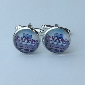 Color Watchtower Sign Cufflink Set