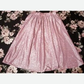 Pink Half Circle Skirt