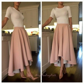 High Low Half Circle Skirt