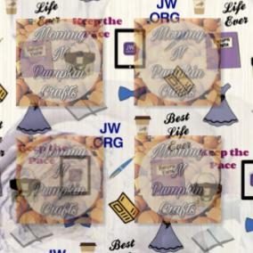 JW Pioneer Pattern Paper Purple Foral Close Up