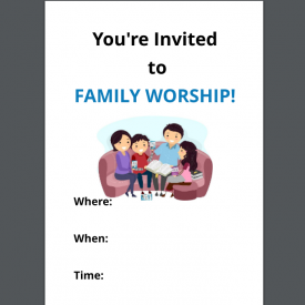 Family Worship Invitation