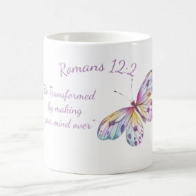 "Romans 12:2 ""Be Transformed"" 11 oz Mug,"