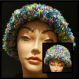 Multi-color Scarf and Hat Set