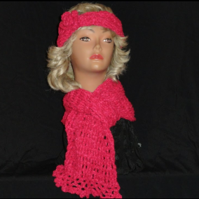 Pink Scarf