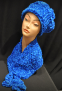 Blue Scarf and Hat Set
