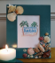 Maritime Memories Seashell Embellished 8 x 10 Vertical Picture Frame in Caribbean Blue