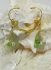 Sea Glass and Swarovski Crystal Gold-Filled Leverback Earrings in Seafoam Green