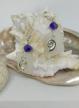Swarovski, Sea Shells and Sea Glass .925 Sterling Silver Lever Back Earrings