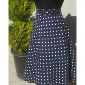 Half Circle Polkadot Skirt