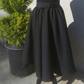 Black Full Circle Midi Skirt