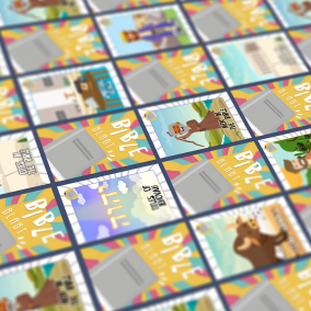Tiled Bible Blast Cards