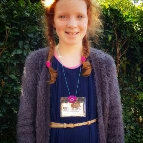Convention Badge Holder & Necklace – Flower Pendant