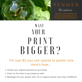 UPSIZE your Digital Card to a Poster!