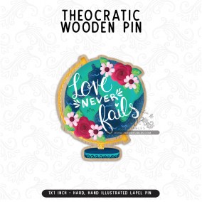 Love Never Fails – Wooden Lapel Pins