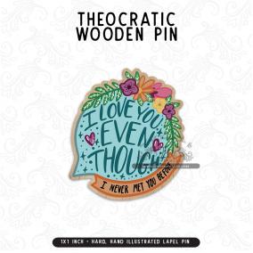 Joy of Conventions – Wooden Lapel Pins