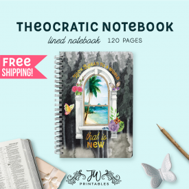 Look Ahead To a World That is New Notebook | Feminine | Best Life Ever – Scripture Notebook – Pioneer Gifts – JW Gifts