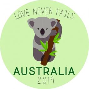 Love Never Fails – Australia Sticker