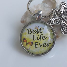 best life ever butterfly keychain2