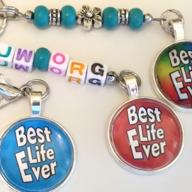 'Best Life Ever' keychain/bag accessory