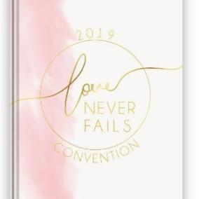 Love Never Fails Notebook – Pink