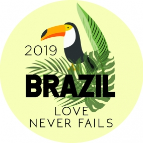 Love Never Fails – Brazil Stickers