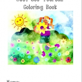 Just see Yourself Coloring Book Girl Cover