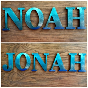 Custom Decorative Wall Letters for Nursery / Wedding / Home