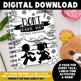 INSTANT DOWNLOAD [DIGITAL] Dont Give Up! Children's Convention Notebook