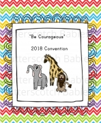 Be Courageous Convention Notebook for Young Kids