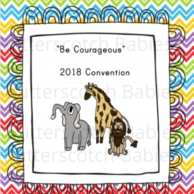 Be Courageous Convention Notebook for Big Kids