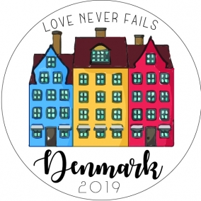 Love Never Fails – Denmark Stickers