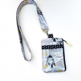 Zipper Wallet Lanyard Badge Holder For Assemblies Or Traveling Removable Lanyard