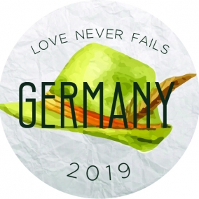 Love Never Fails – Germany Stickers