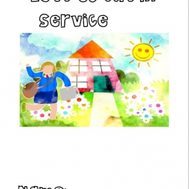 Let's Go Out in Service Coloring Book (girls)