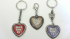 convention 'Don't Give Up' heart keychain