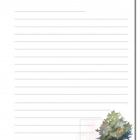 Printable Letter Writing Sheets – Forest
